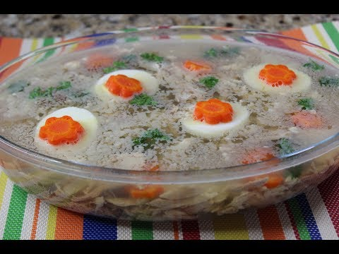 How to Make Aspic - Savoury Jelly / Meat Jelly - 冷盘做法