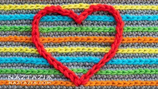 How to do Surface Crochet - Slip Stitch and Chain Embroidery