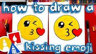 How To Draw The Kissing Emoji