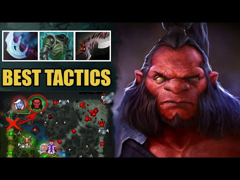 Cut Creep Wave For Easy WIN On Offlane Axe Best Tactics Manta + Abyssal Delete Drow Ranger Dota 2