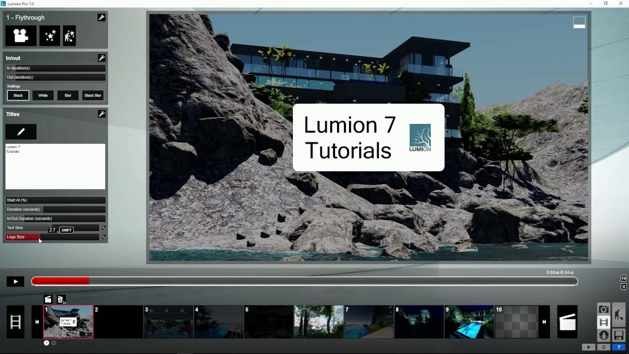 エフェクト:タイトルーロゴ追加(Lumion7 series)