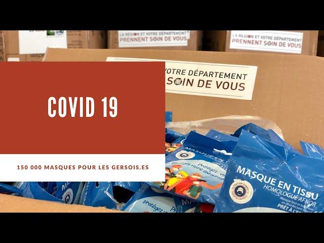 COVID19 - 150 000 nouveaux masques distribués aux gersois.e.s