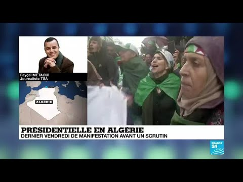 Présidentielle en Algérie : dernier vendredi de manifestation avant le scrutin