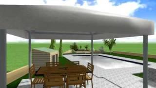 preview picture of video 'Ha Potami C Pan 25 Plot 404 V1 Secret Valley Cyprus 3D garden design'