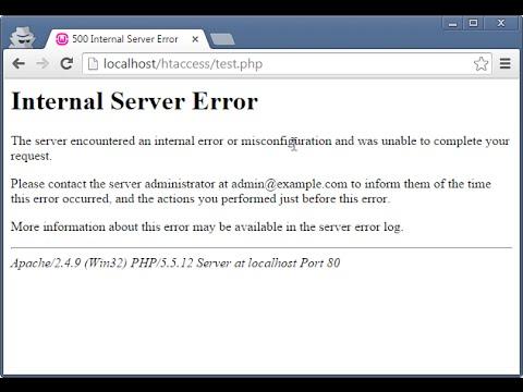 Video How to Fix wamp internal server error htaccess