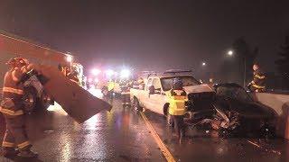 Nine car pileup on Interstate 280