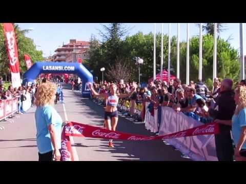 Llegada 1a mujer 10km Ciutat de Berga