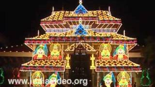 The brilliantly lit Thiruvambadi temple