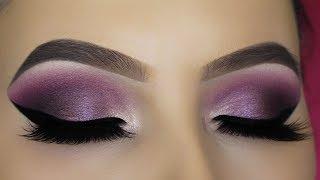Purple Shimmer Eye Makeup Tutorial