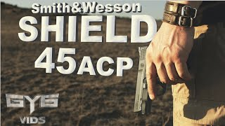 M&P Shield 45 acp Handgun [ FULL REVIEW & TORTURE TEST ]