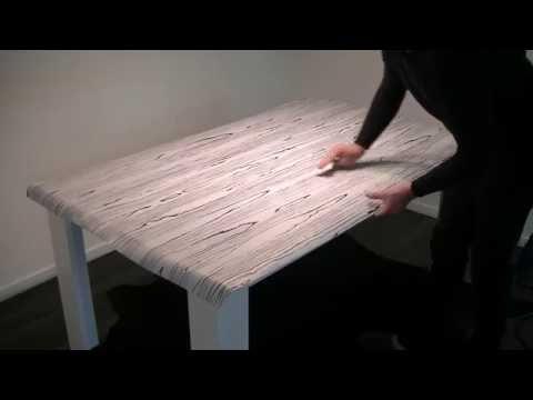Tischfolierung mit Möbelfolie Montageanleitung
