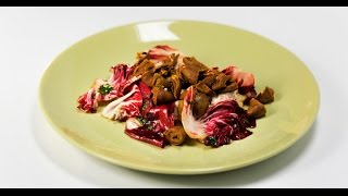 Салат с маринованными куриными сердечками | Субпродукты