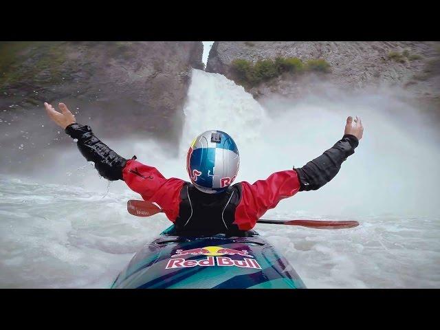 Massive 35m Kayak Drop from Keyhole Falls