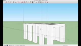 SketchUp Make Tutorial : A Simple Booth Design