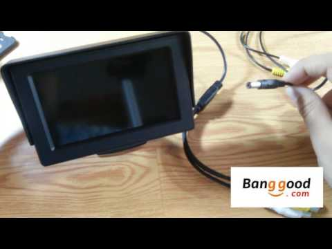 4.3 pulgadas LCD monitor del coche retrovisor con Blacklight LED para la cámara DVD