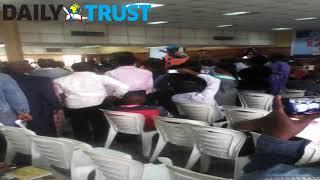 ASUU members disrupt Tinubu's speech at UNILAG, enforce strike directive