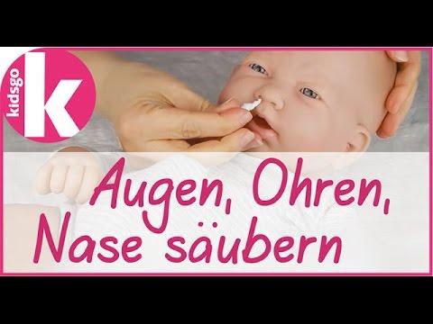 Babypflege: Nase putzen, Augen und Ohren säubern - so geht es richtig