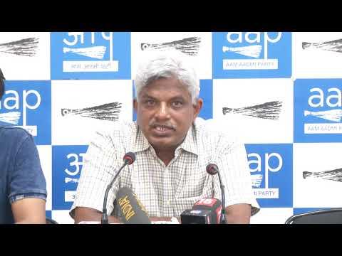 AAP National Secretary Pankaj Gupta Briefs Media on Tomorrow's (16th June 18) March to PMO
