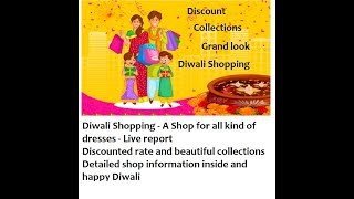 Deepavali Shopping Live coverage from a famous Shop | Interview and discount information