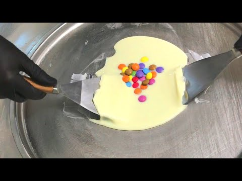 Smarties Ice Cream Rolls | colourful dessert for kids - children love this colorful sweet candy