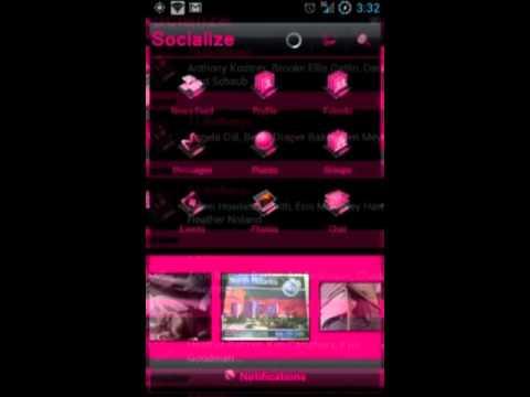 Video of Pink Socialize for Facebook