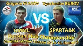 BEAUTIFUL GAME Grigoriy VLASOV - Vyacheslav BUROV Russian Club Championships Table Tennis
