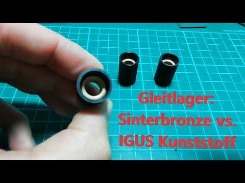 Gleitlager: Sinterbronze vs. IGUS Kunststoff + Einbautipps