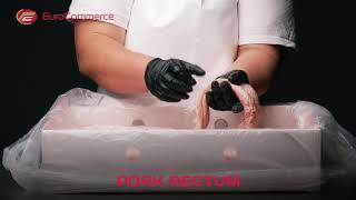 Pork Rectum, Pork whole rectum / pork large intestines / pig whole rectum youtube video