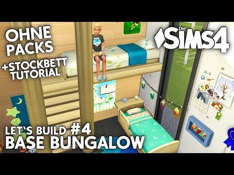 Stockbett: Die Sims 4 Haus bauen ohne Packs | Base Bungalow #4 (deutsch)