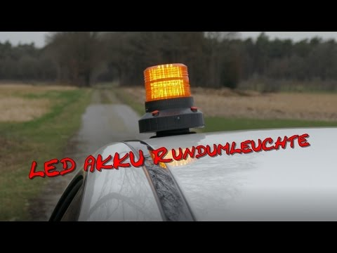 Akku LED Rundumleuchte [4K]