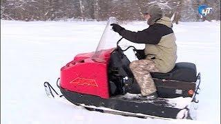 На лыжной трассе в Юрьевском парке произвели укатку