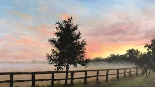 Painting A Sunrise For Beginners In Oil   Paintings By Justin
