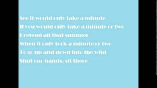 A Minute or Two - Cider Sky (Lyrics)
