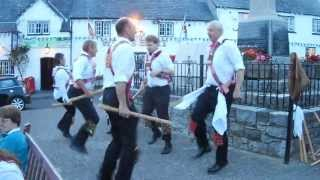 preview picture of video 'Cardiff Morris dance Upton Stick in Llantwit Major. 20th August, 2013.'