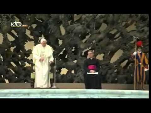 Audience de Benoit XVI aux représentants des commuautés rom et tzigane