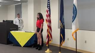 National Anthem ~ Singing for Navy Dental Graduating Class at Fort Sam Houston