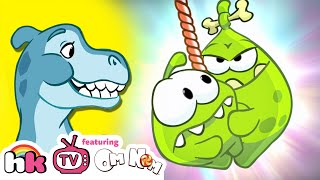 Cartoon | Om Nom Stories: The Stone Age | Cut The Rope | Funny Cartoons For Children | HooplaKidz TV