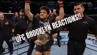 UFC BROOKLYN: Pros React to Cejudo-Dillashaw Stoppage, Greg Hardy's DQ Loss