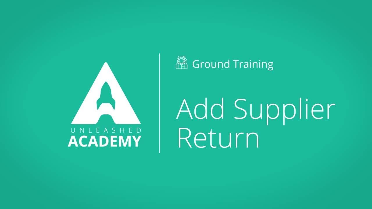 Add Supplier Return YouTube thumbnail image