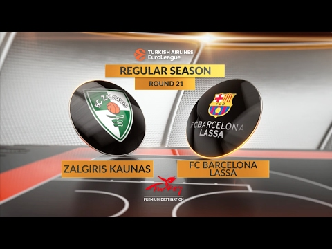 EuroLeague Highlights RS Round 21: Zalgiris Kaunas 89-85 FC Barcelona Lassa