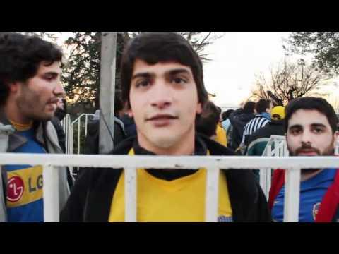 Los hinchas de Boca en el Estadio Nacional de Santiago.