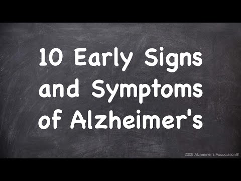 Video 10 Early Signs and Symptoms of Alzheimer's
