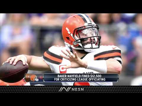 Baker Mayfield Fined For Comments On NFL Referees