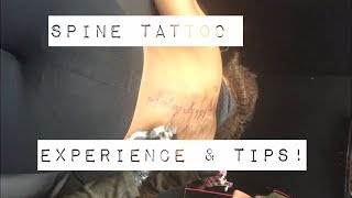 Spine Tattoo Experience & Tips!