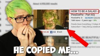 PEWDIEPIE COPIED ME... CAN WE COPYSTRIKE PEWDIEPIE? | Meme React •