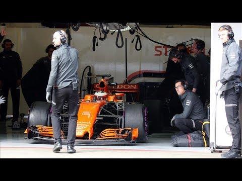 """Tres heridos leves en """"pequeño incendio"""" en el 'box' de McLaren en Mon"""