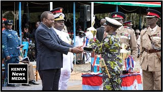 UHURU KENYATTA PRESIDES PASS OUT PARADE-OATH OF OFFICE AND AWARDS OF KDF