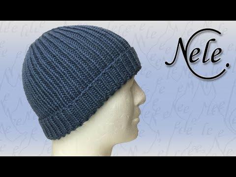 Mütze stricken für Anfänger, einfache Strickmütze