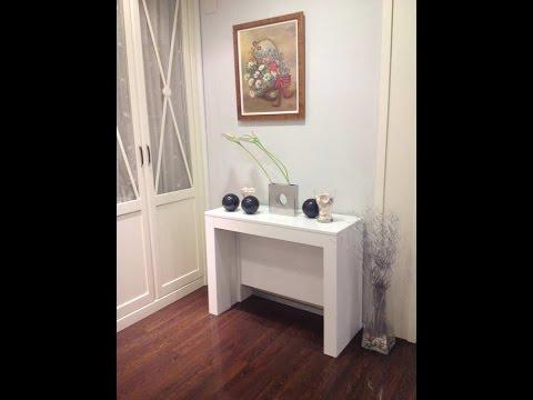 mesa consola extensible 3 metros blanca