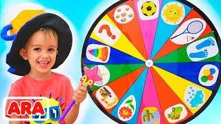 يلعب الأطفال المرحون في العجلة السحرية  مقاطع فيديو لكل من فلاد و نيكيتا